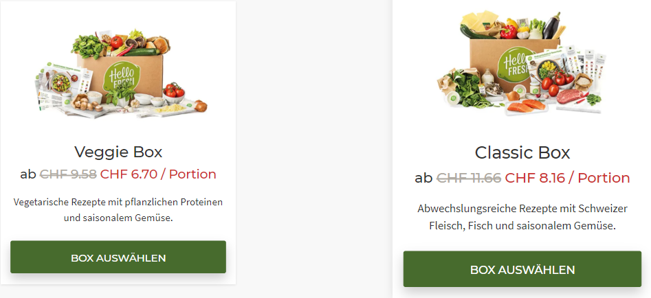 HelloFresh Black Friday 30 Prozent