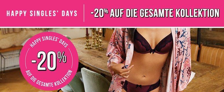 Hunkemöller Singles Days 2019 20 Prozent