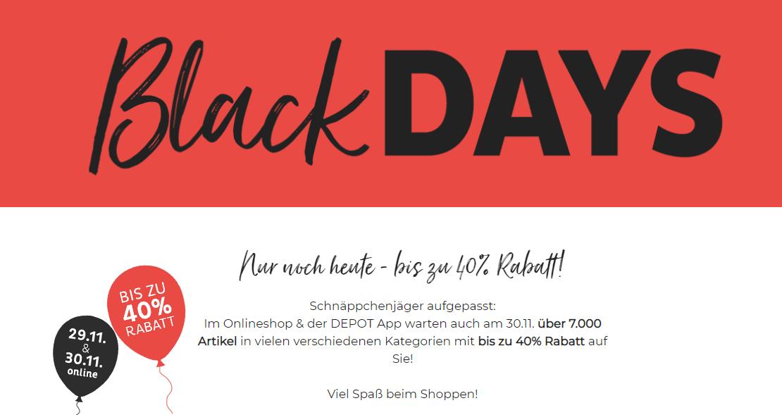 Depot Black Friday 2019