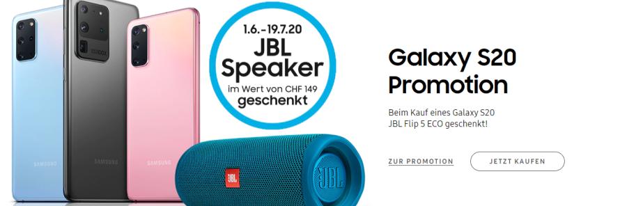 Samsung Promotion JBL geschenkt